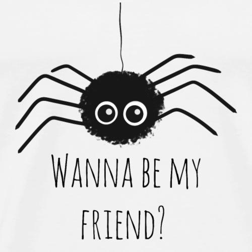 Spinne Freunde Süss Mann Frau Insekt Spruch - Männer Premium T-Shirt