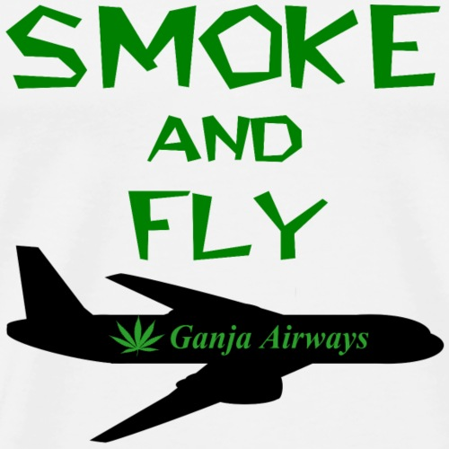 Rasta smoke cannabis humour - T-shirt Premium Homme