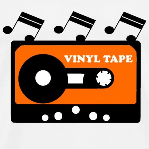 Schallplatte in einer Kassette - Männer Premium T-Shirt