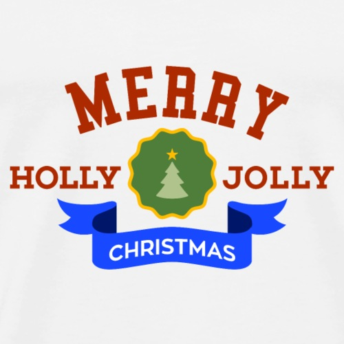 Merry Holly Jolly Weihnachten - Men's Premium T-Shirt