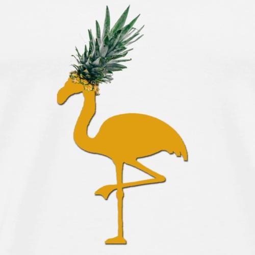 Ananas Flamingo - Männer Premium T-Shirt