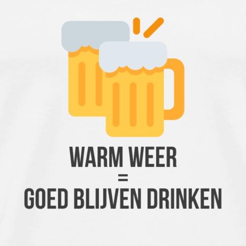 Warm weer = goed blijven drinken - Mannen Premium T-shirt