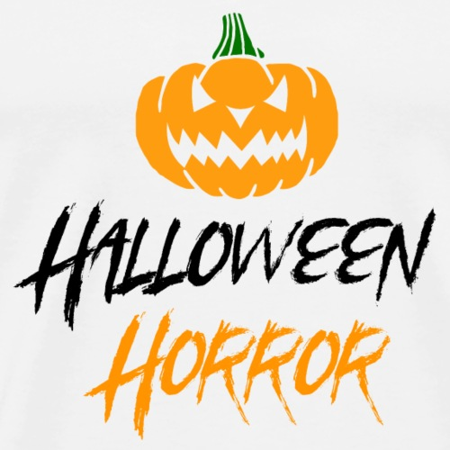 Halloween horror pumpkin - Men's Premium T-Shirt