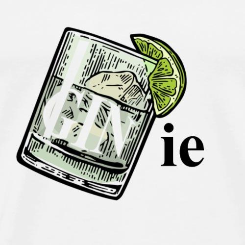 GINie (Genie Wortspiel, Wortwitz) Gin and Tonic - Männer Premium T-Shirt