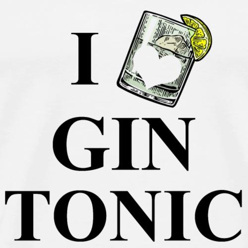 I Love Gin Tonic - Männer Premium T-Shirt