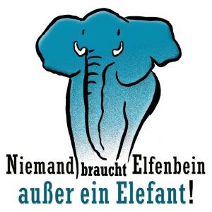 Niemand braucht Elfenbein, außer ein Elefant ! - Männer Premium T-Shirt