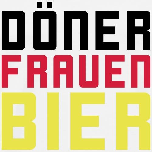 Döner Frauen Bier - Männer Premium T-Shirt