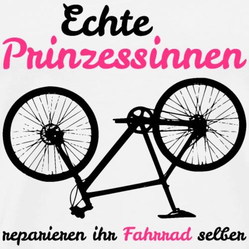 Echte Prinzessinnen reparieren ihr Fahrrad selber - Männer Premium T-Shirt