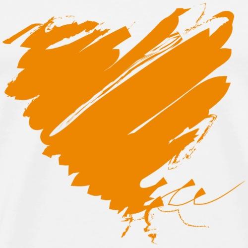 Niederlande Holland Oranje Europa Herz Grunge NL - Männer Premium T-Shirt