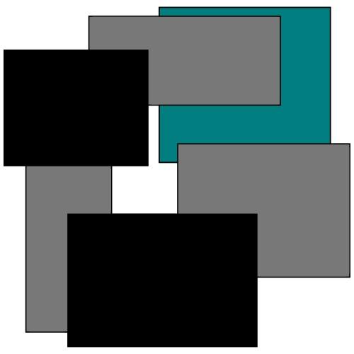 Farbige Quadrate - Männer Premium T-Shirt