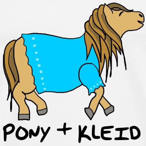 Pony und Kleid - Männer Premium T-Shirt