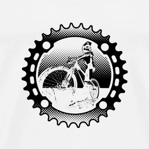 Downhill Biker (heller Hintergrund) - Männer Premium T-Shirt