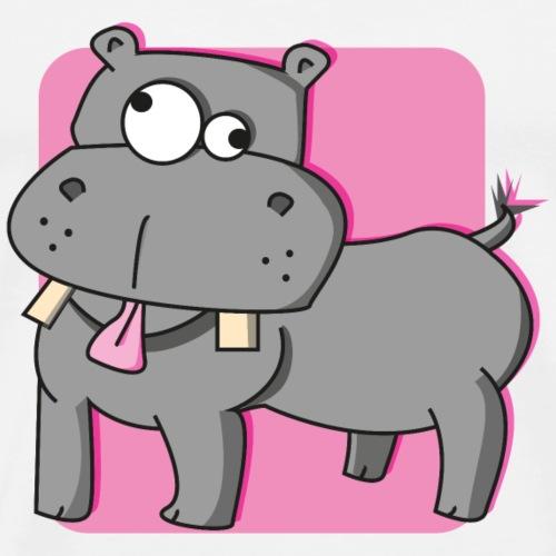 Whitney the Hippo - Mannen Premium T-shirt