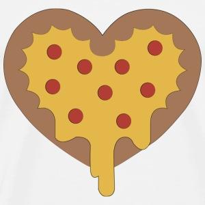 DRIPPIN' LOVE PIZZA - Mannen Premium T-shirt
