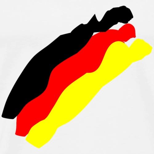 Deutsche Flagge - Männer Premium T-Shirt