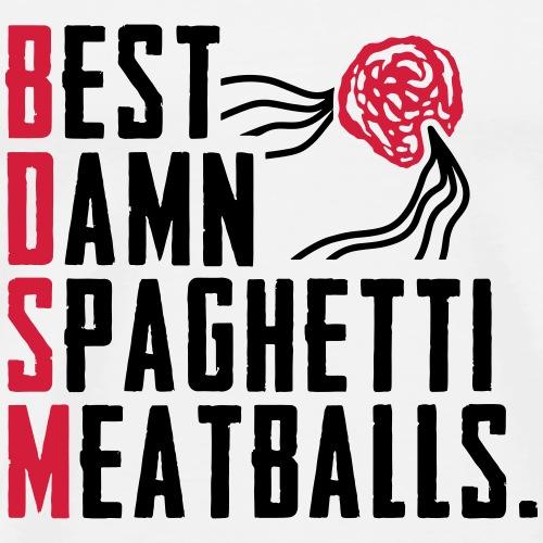 Best Damn Spaghetti - Miesten premium t-paita