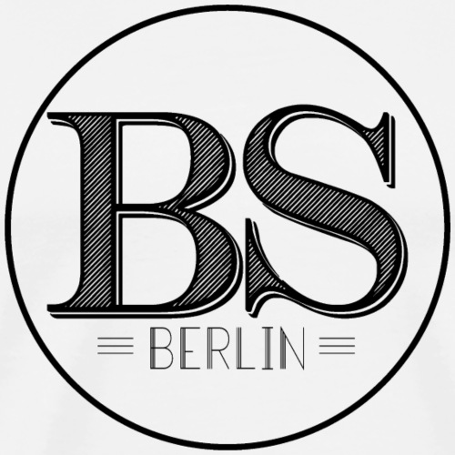 Bar Society Berlin Logo Schwarz - Männer Premium T-Shirt