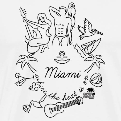 Miami - Where the heat is on... W/S by FloridaGuru - Männer Premium T-Shirt