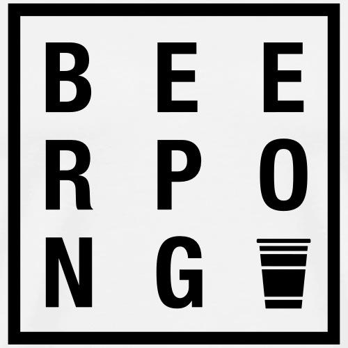 Beer Pong Quadrat - Männer Premium T-Shirt