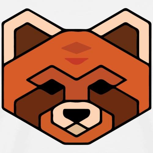 Simple Geometric Panda - Men's Premium T-Shirt