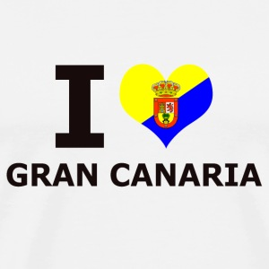 I LOVE GRAN CANARIA FLAG - Men's Premium T-Shirt