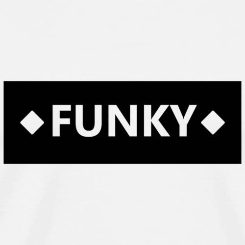 FunkyBlockBlack - Männer Premium T-Shirt