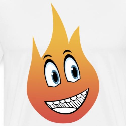 smile flame - Premium T-skjorte for menn