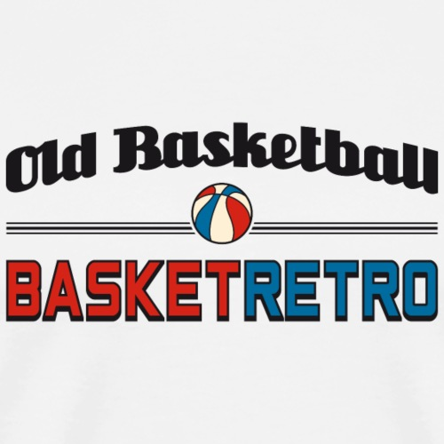 Old basketball fond clair - T-shirt Premium Homme