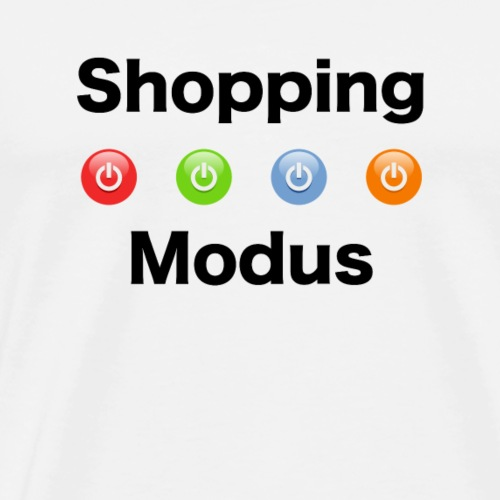 shopping modus by meontra design - Männer Premium T-Shirt