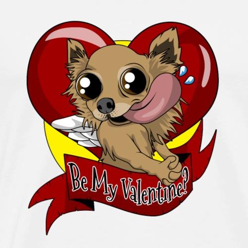 Hundeliebe süß mit einem Herz für den Valentinstag - Männer Premium T-Shirt