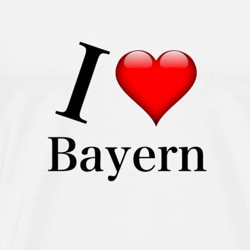 I LOVE Bayern Oktoberfest T-Shirt - Männer Premium T-Shirt
