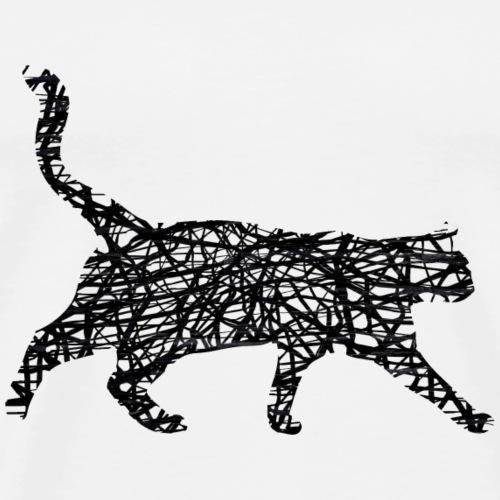 Katze Kätzchen Mieze Schwarz Geschenk Geschenkidee - Männer Premium T-Shirt