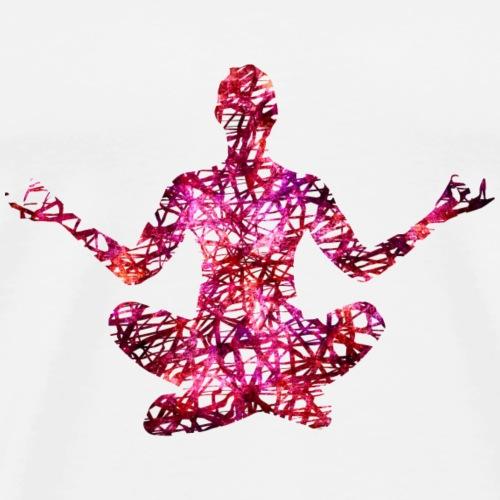 Fitness Yoga #1 Pink Rosa Geschenk Geschenkidee - Männer Premium T-Shirt