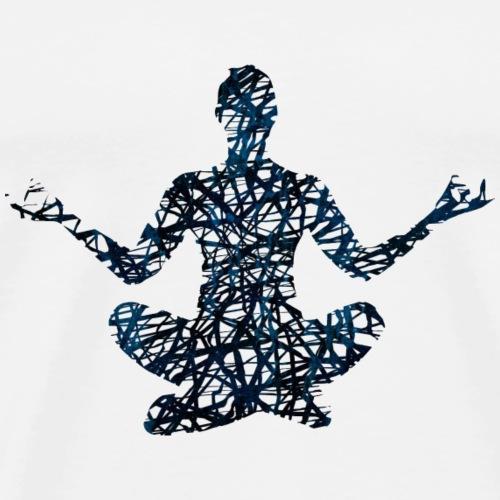Fitness Yoga #1 Blau Geschenk Geschenkidee - Männer Premium T-Shirt