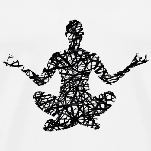 Fitness Yoga #1 Schwarz Geschenk Geschenkidee - Männer Premium T-Shirt