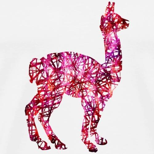 Lama Alpaka #1 Pink Geschenk Geschenkidee - Männer Premium T-Shirt