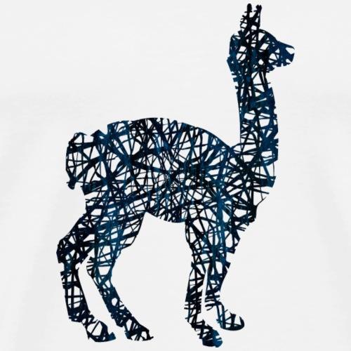 Lama Alpaka #1 Blau Geschenk Geschenkidee - Männer Premium T-Shirt