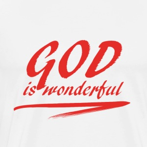 God_is_wonderful - Herre premium T-shirt