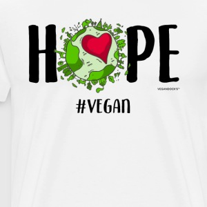 Hope #Vegan - Herre premium T-shirt
