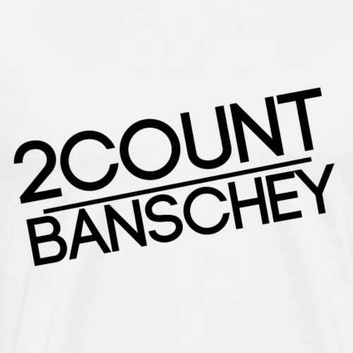 ''2COUNTBANSCHEY'' black. - Männer Premium T-Shirt