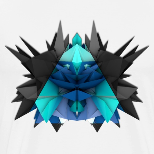 3D Abstract - The Turtle - Men's Premium T-Shirt
