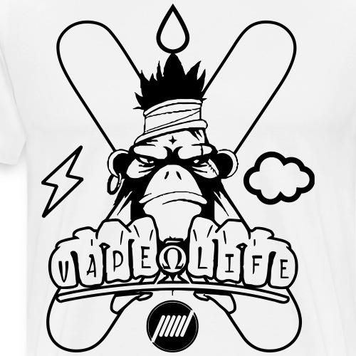 Monkey Vape - Maglietta Premium da uomo
