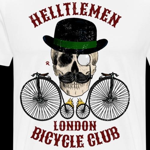 Calavera y bicicleta vintage (Helltlemen). Color - Camiseta premium hombre