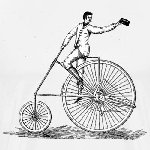 Vintage Fahrrad Old School Minimalistisch - Männer Premium T-Shirt