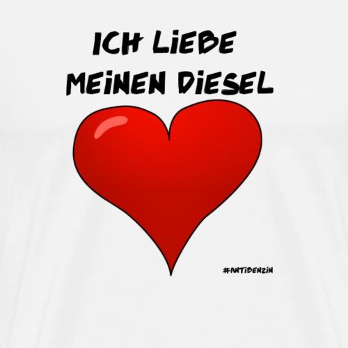 Diesel Auto Liebe Herz - Männer Premium T-Shirt