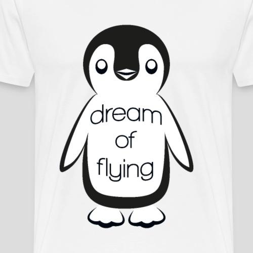 Dream of Flying Pinguin - Men's Premium T-Shirt