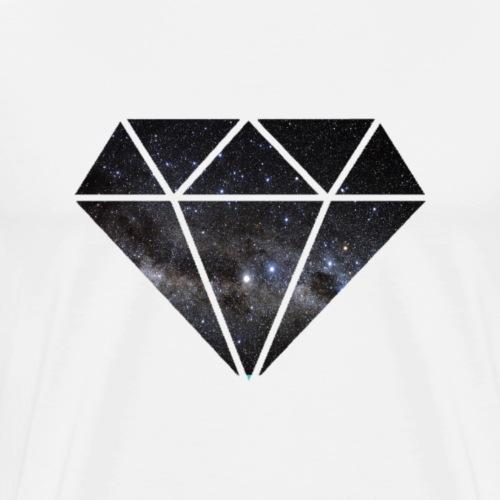 Diamant in Space - Männer Premium T-Shirt