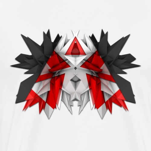3D Abstract - The Wolf - Men's Premium T-Shirt