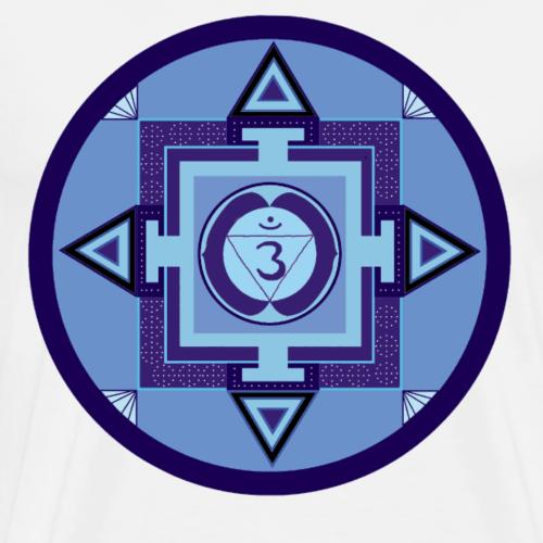 BLAU - Stirn Chakra - drittes Auge - Wahrnehmung - Männer Premium T-Shirt