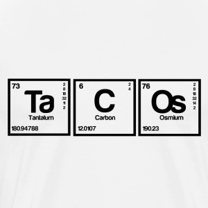 Periodic table elements: Ta C Os - Men's Premium T-Shirt